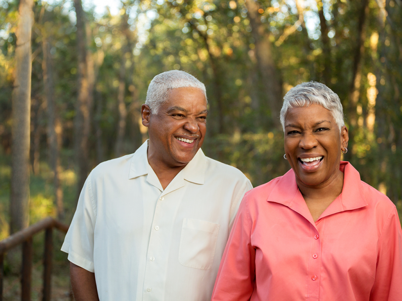 african american laughing couple